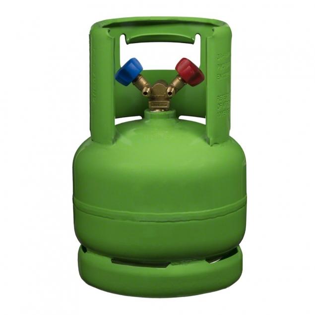 Kältemittel-Leerflasche (6,0 Liter - Grün)